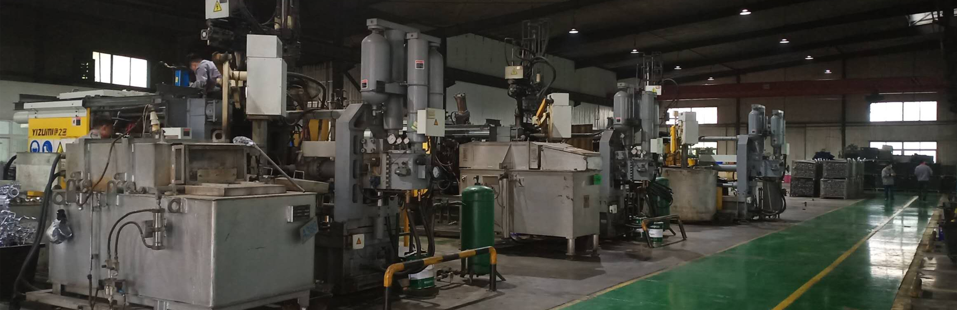 Производствени съоръжения и списък с оборудване за леене под налягане